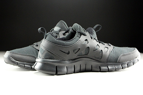 Nike Free Run 2 GS Schwarz Dunkelgrau Innenseite