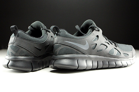 Nike Free Run 2 GS Black Dark Grey Back view