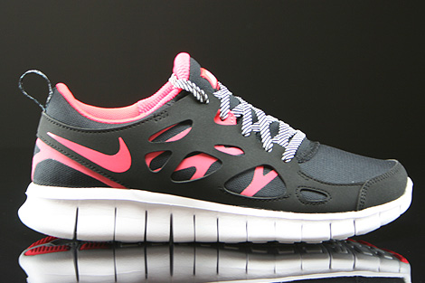 Nike Free Run 2 GS Black Hyper Punch White Right