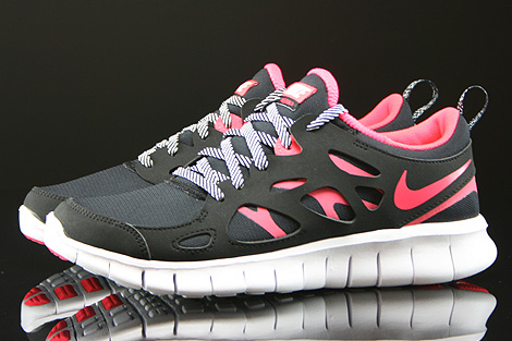 Nike Free Run 2 GS Black Hyper Punch White Profile