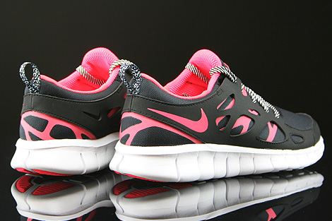 Nike Free Run 2 GS Black Hyper Punch White Back view