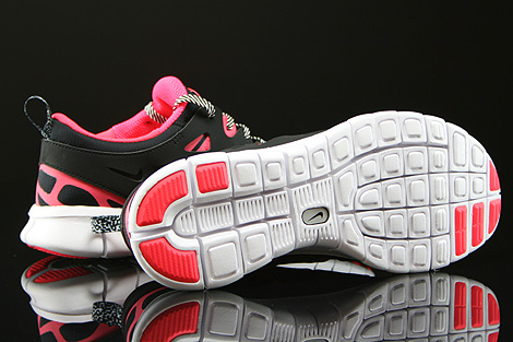 Nike Free Run 2 GS Black Hyper Punch White Outsole