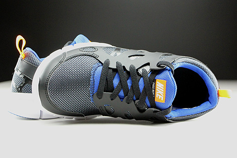 Nike Free Run 2 GS Black White Total Orange Game Royal Over view