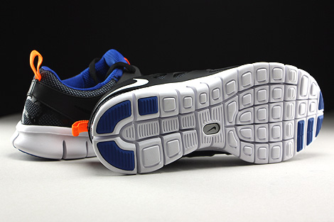 Nike Free Run 2 GS Black White Total Orange Game Royal Outsole