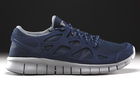 Nike Free Run 2 Midnight Navy Flat Silver Right