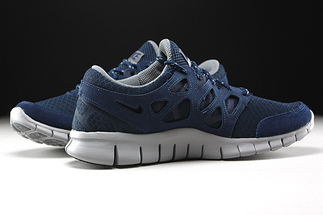 Nike Free Run 2 Midnight Navy Flat Silver Inside
