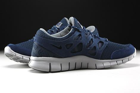 Nike Free Run 2 Dunkelblau Grau Dunkelgrau Innenseite