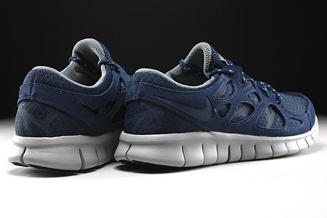Nike Free Run 2 Dunkelblau Grau Dunkelgrau Rueckansicht