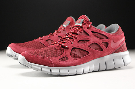 Nike Free Run 2 Team Red Flat Silver Dark Grey Sidedetails