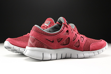 Nike Free Run 2 Team Red Flat Silver Dark Grey Inside