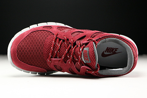 Nike Free Run 2 Team Red Flat Silver Dark Grey Over view