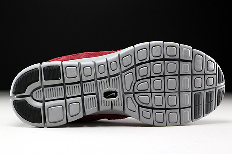 Nike Free Run 2 Team Red Flat Silver Dark Grey Outsole