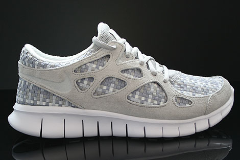 Nike Free Run 2 Woven Pure Platinum Granite Stadium Grey