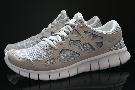 Nike Free Run 2 Woven Pure Platinum Granite Stadium Grey Profile