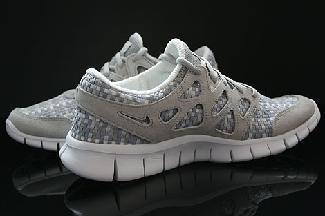 Nike Free Run 2 Woven Pure Platinum Granite Stadium Grey Inside