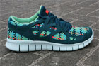 Nike Free Run 2 Woven Sport Turquoise Total Crimson