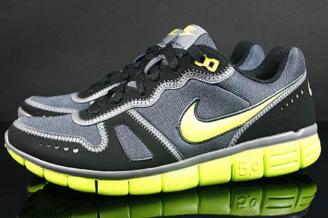 Nike Free Waffle AC Anthracite Cyber Grey Black Profile