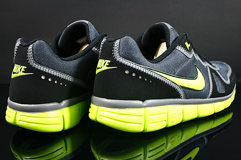 Nike Free Waffle AC Anthracite Cyber Grey Black Back view