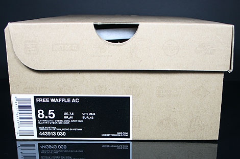 Nike Free Waffle AC Anthracite Cyber Grey Black Shoebox