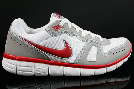 Nike Free Waffle AC White Sport Red Wolf Grey Right