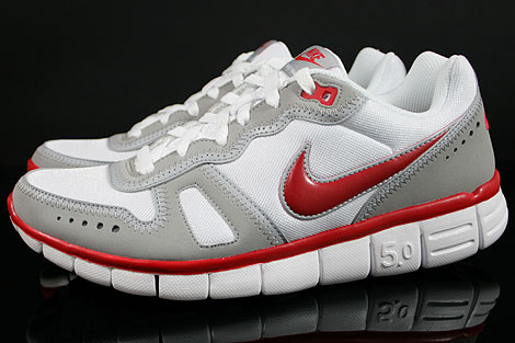 Nike Free Waffle AC Weiss Rot Grau Seitenansicht