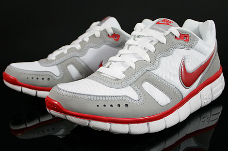 Nike Free Waffle AC White Sport Red Wolf Grey Sidedetails