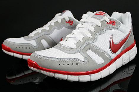 Nike Free Waffle AC Weiss Rot Grau Seitendetail