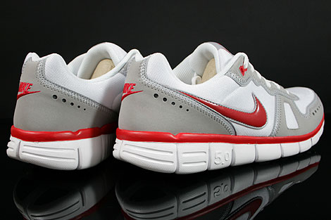 Nike Free Waffle AC White Sport Red Wolf Grey Back view