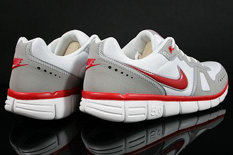 Nike Free Waffle AC Weiss Rot Grau Rueckansicht
