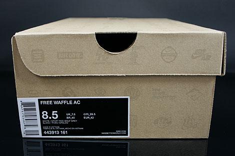 Nike Free Waffle AC White Sport Red Wolf Grey Shoebox