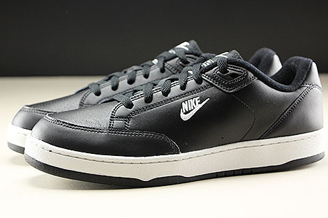 Nike Grandstand II Black White Neutral Grey Seitenansicht