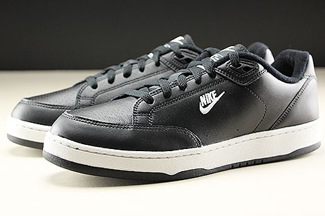 Nike Grandstand II Black White Neutral Grey Sidedetails