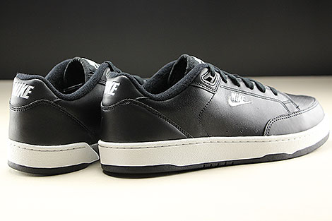 Nike Grandstand II Black White Neutral Grey Back view