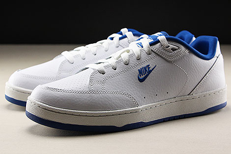 Nike Grandstand II White Team Royal Sidedetails