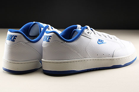 Nike Grandstand II White Team Royal Rueckansicht