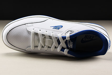 Nike Grandstand II White Team Royal Over view