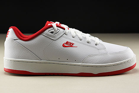 Nike Grandstand II White University Red Rechts