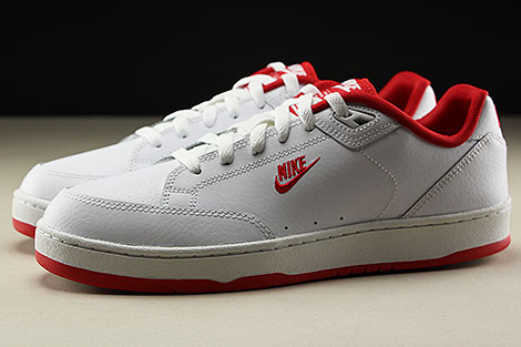 Nike Grandstand II White University Red Seitenansicht