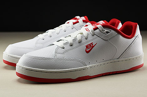 Nike Grandstand II White University Red Seitendetail