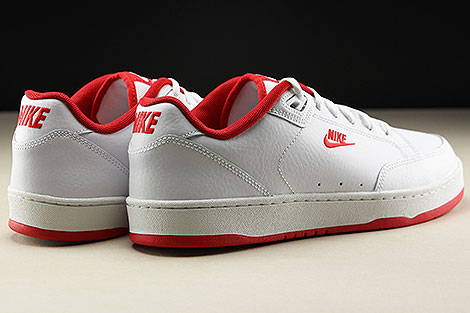 Nike Grandstand II White University Red Rueckansicht