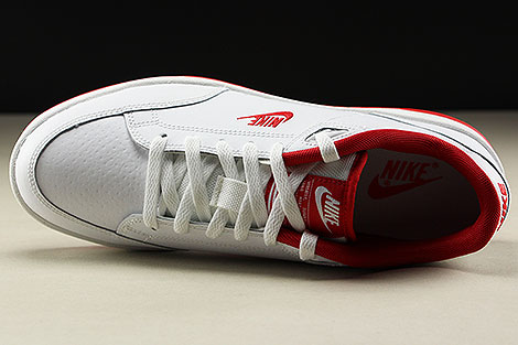 Nike Grandstand II White University Red Oberschuh