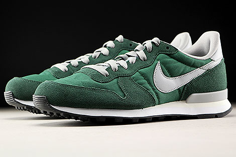 Nike Internationalist Gorge Green Matte Silver Sidedetails