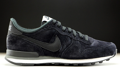 7bfb4172cb79 Nike Internationalist Leather Black Dark Grey White 631755-010 ...