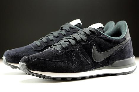 Nike Internationalist Leather Black Dark Grey White Sidedetails