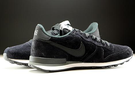 Nike Internationalist Leather Black Dark Grey White Inside
