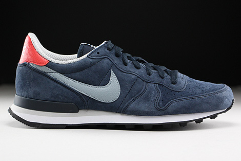 Nike Internationalist Leather Dark Obsidian Dove Grey Daring Red Natural