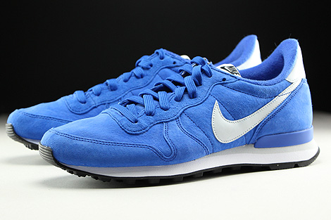 Nike Internationalist Leather Blau Grau Weiss Schwarz Seitendetail