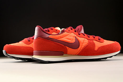 Nike Internationalist Orange Dunkelrot Weiss Innenseite