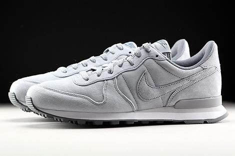 Nike Internationalist Premium Hellgrau Grau Weiss Seitenansicht