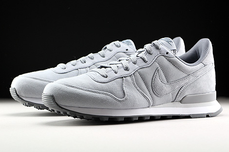 Nike Internationalist Premium Hellgrau Grau Weiss Seitendetail